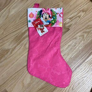Minnie Mouse Christmas Stocking NWT